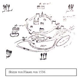 Karte Plauen 1536