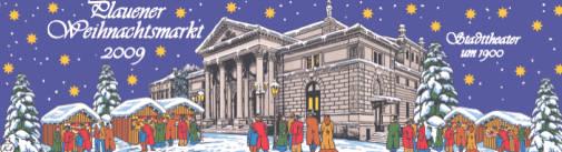 Der  bei Sammlern  beliebte  Glühweinbecher  darf auch in diesem Jahr nicht fehlen. Für 1,50 Euro gibt es ihn auch in diesem Jahr, zu sehen ist das Stadttheater Plauen um 1900. Bereits seit 1995 gibt es den Plauener Weihnachtsmarktglühweinbecher, jedes Jahr mit neuem Motiv und in anderer Farbe.