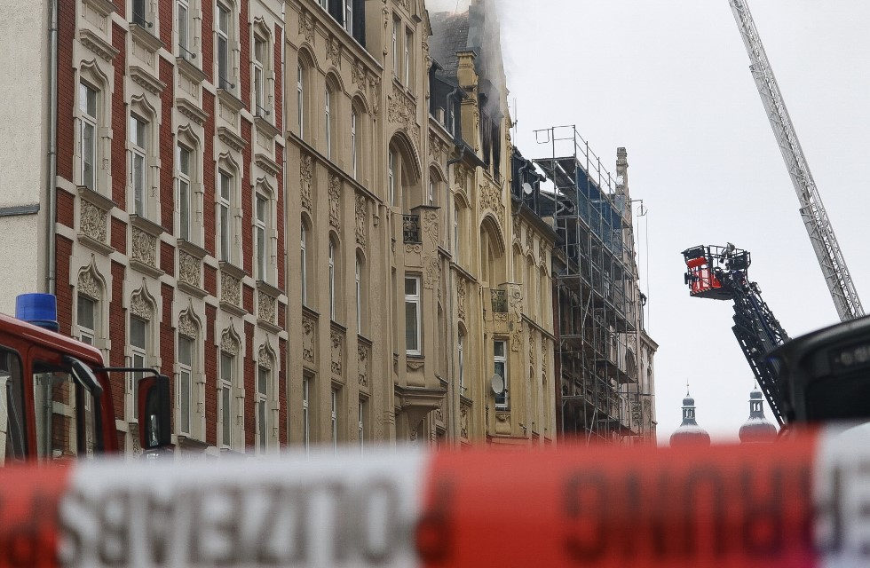 Dürerstraße in Plauen nach Brand noch Wochen gesperrt