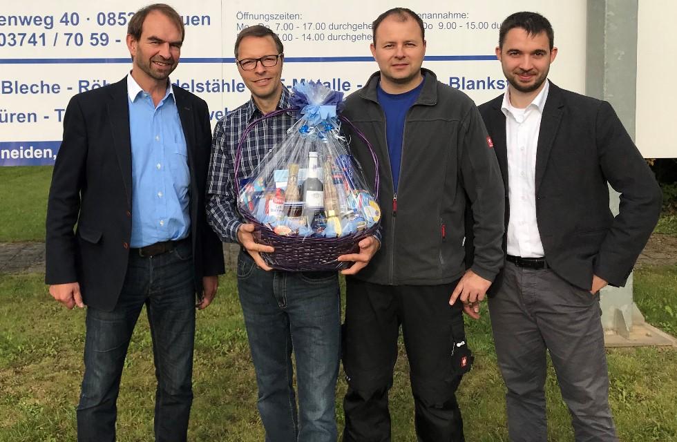 Ein Vierteljahrhundert bei Köstner Stahlzentrum Plauen
