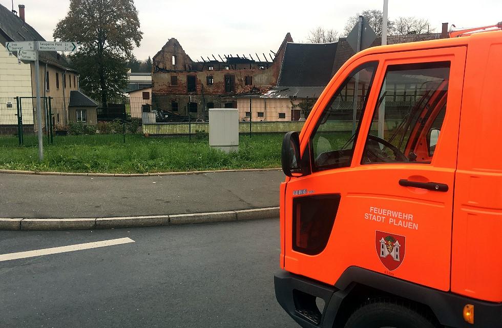 Plauen: Erneut Brand in Alt-Chrieschwitz