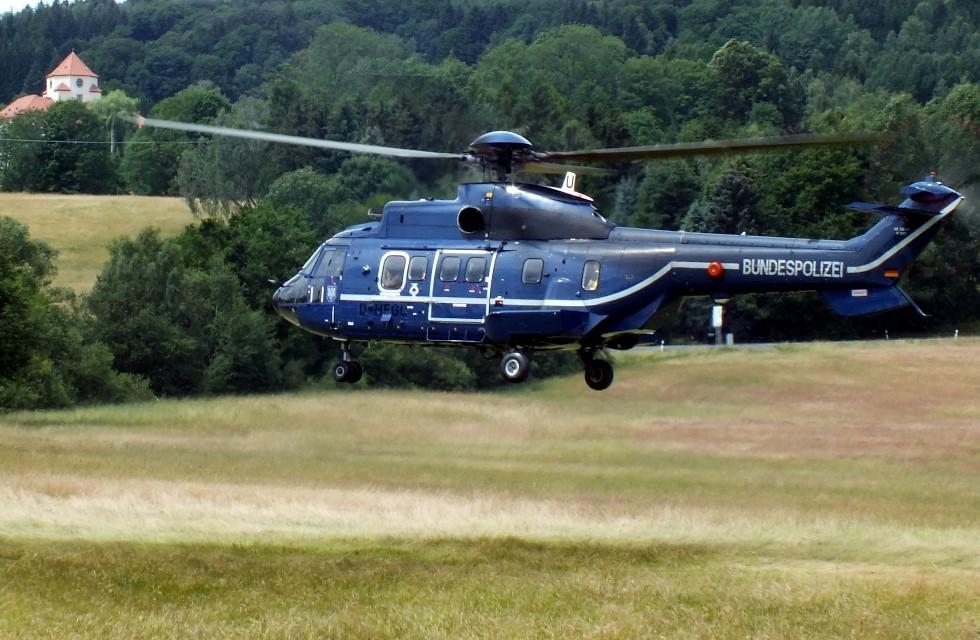 Fahndungseinsatz im Vogtland mit Hubschrauberunterstützung