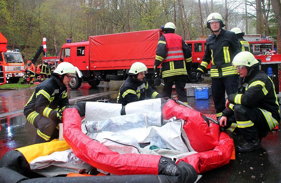 Feuerwehrübung bei Sternquell Plauen 2