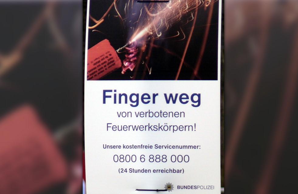 Vogtland: Bundespolizei warnt erneut vor illegaler Pyrotechnik