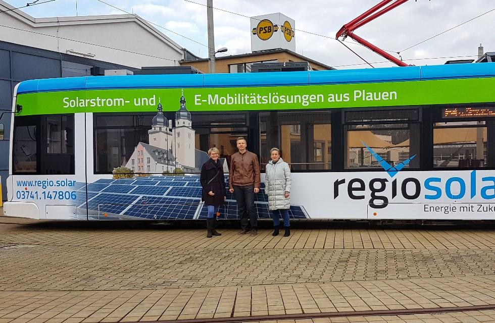 Neunte Niederflurstraßenbahn in Plauen im Einsatz