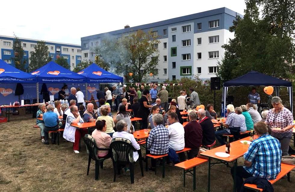 Grillfest bei der WbG Plauen