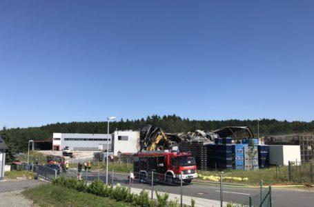 Reichenbach: Großbrand im Industriegebiet