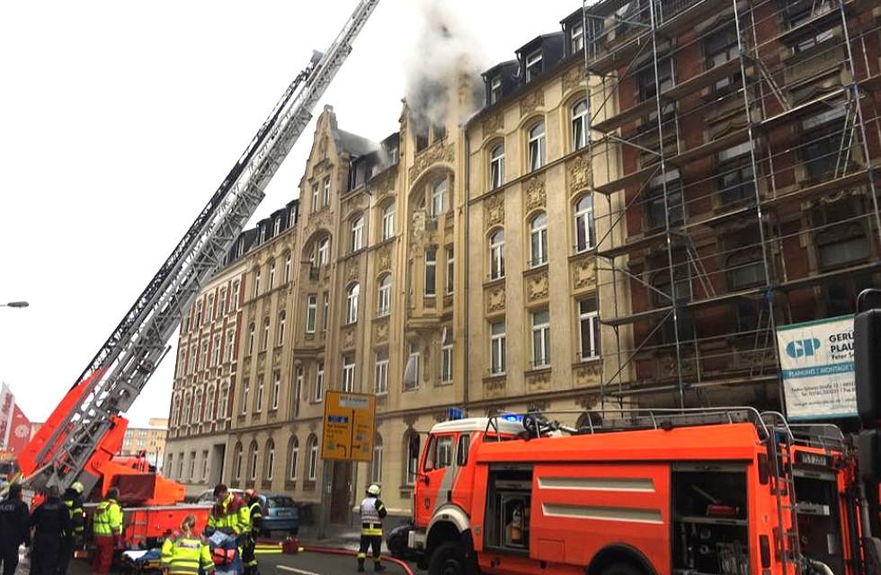 Schock in Plauen: Zwei Tote bei Hausbrand