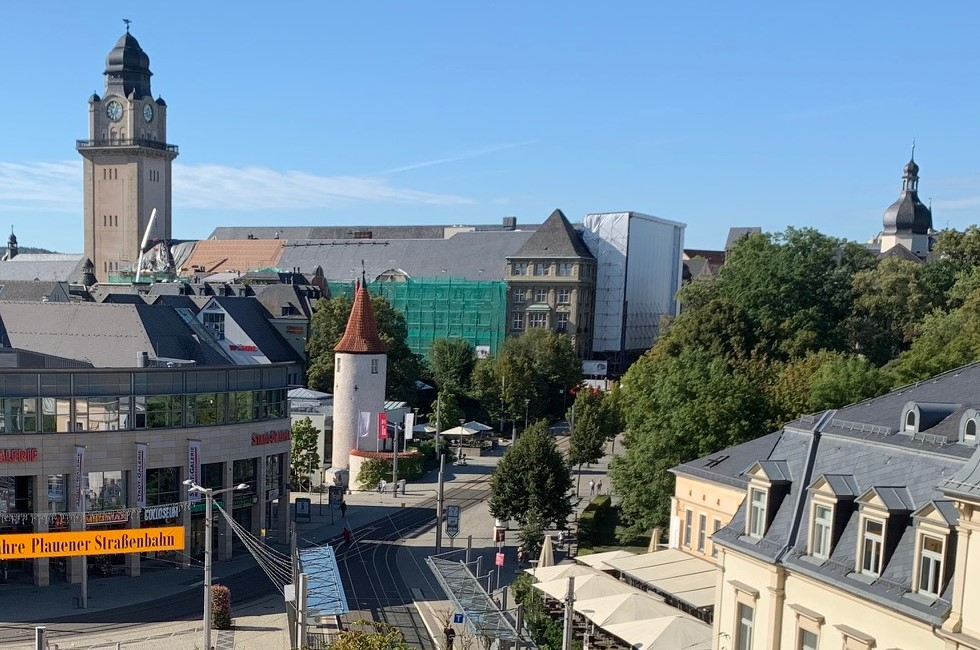 Innenstadt von Plauen 2019