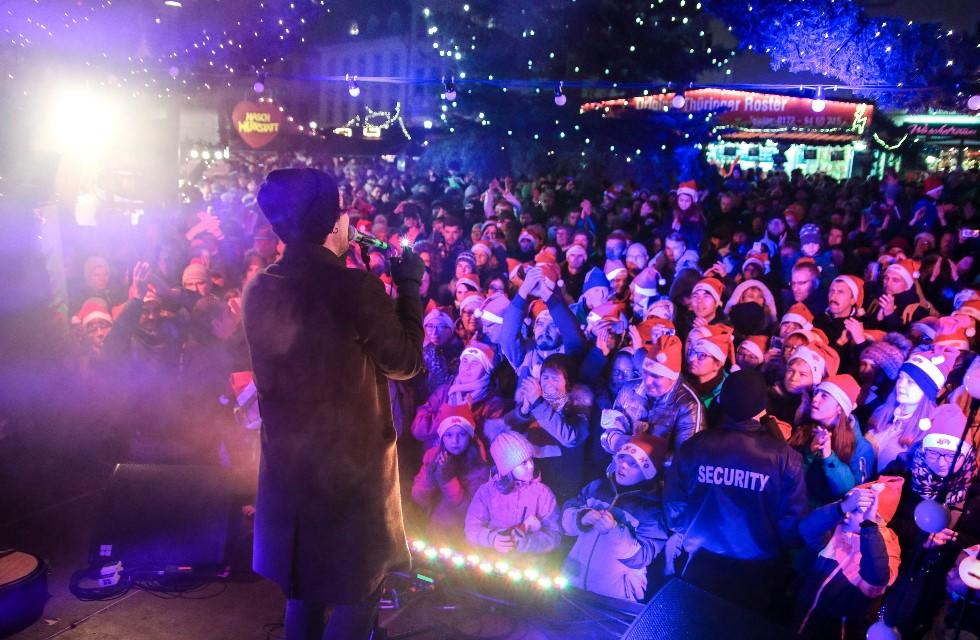 Großer Andrang in Plauen zur MDR JUMP Weihnachtsshow