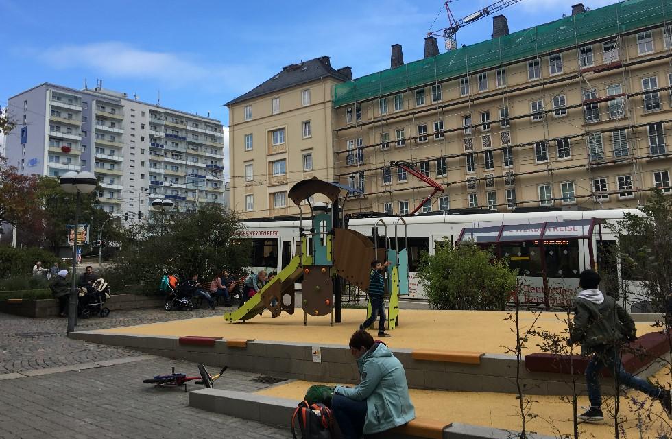 Neues Spielparadies am Plauener Albertplatz