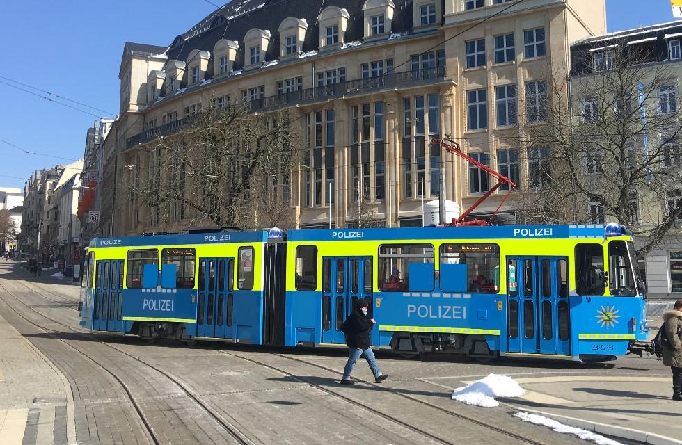 Polizei Plauen setzt auf Streifen-Straßenbahn
