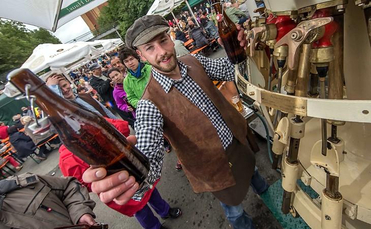 Plauen feiert beim Brauereifest sein Sternquell