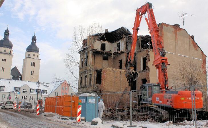 Endlich: Topfmarkt-Ruine in Plauen fällt