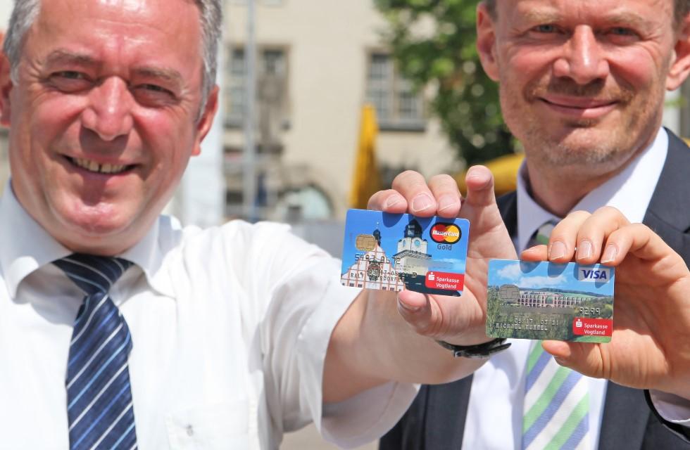 Kreditkarten mit Plauen- und Vogtland-Motiven