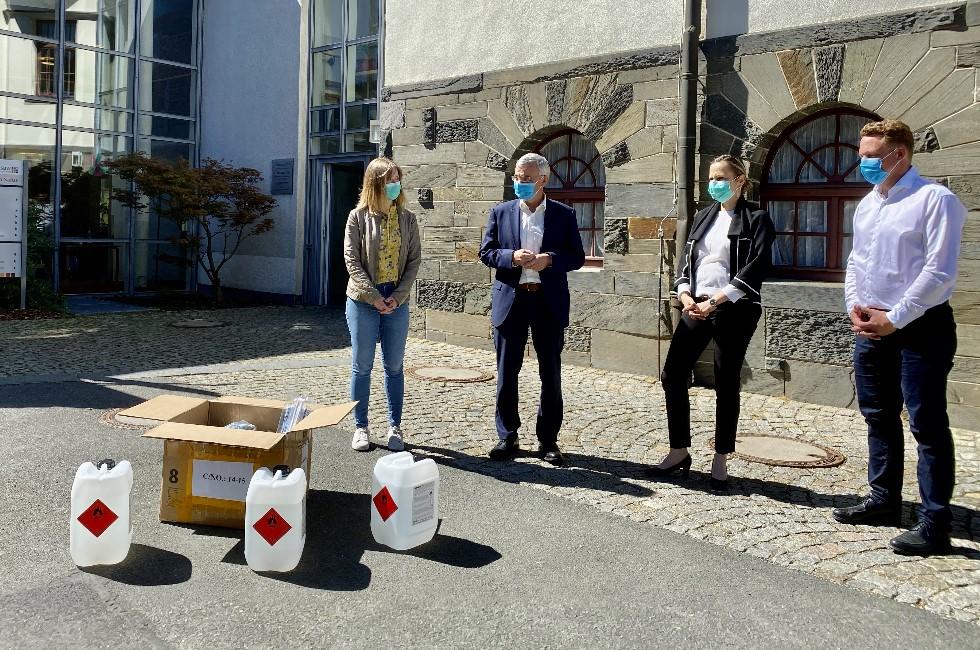 Wernesgrüner Brauerei spendet 5000 Liter Desinfektionsmittel