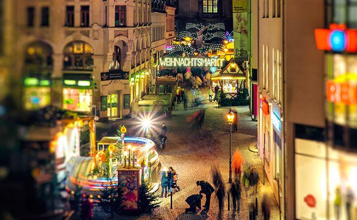 Weihnachtsmarkt 2015 in Plauen hat eröffnet