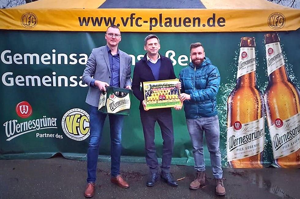 Wernesgrüner und VFC Plauen ein starkes Team
