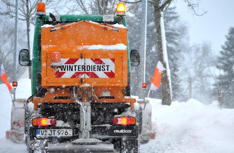 Winterdienst in Plauen: Hauptstraßen sollen ab 6 Uhr frei sein