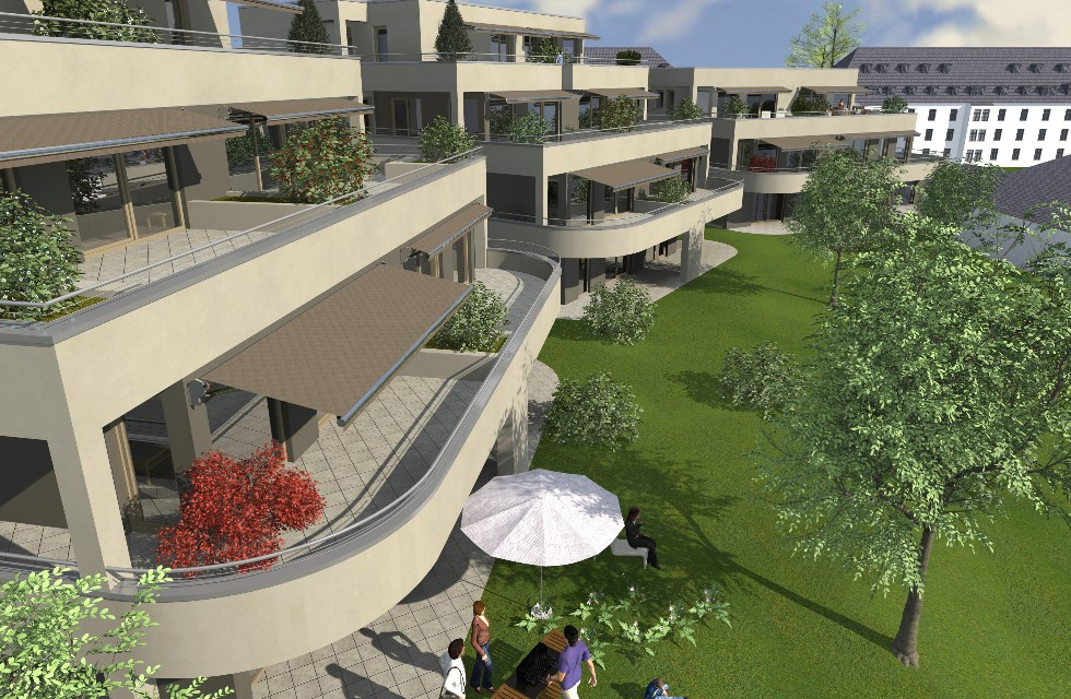 In Plauen Westend entstehen noble Penthousewohnungen Foto: Investor