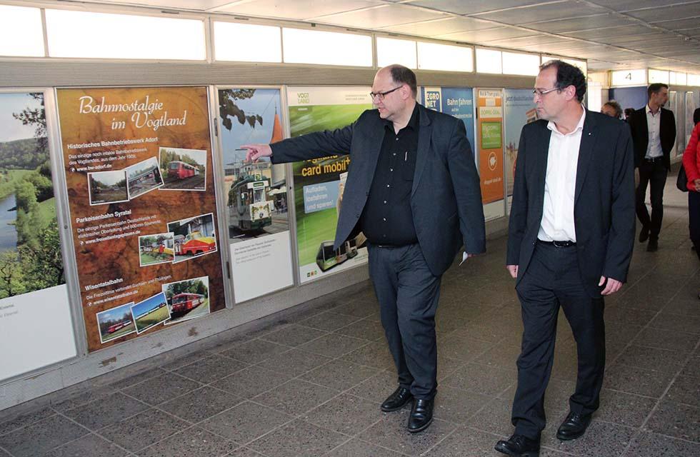 Bahnhof-Vitrinen-Vogtland-Plauen