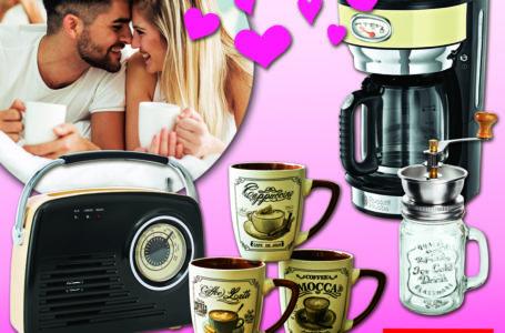 Romantische Kaffeepause für Verliebte