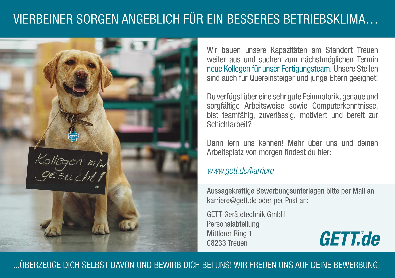Gett-Gerätetechnik-Stellenanzeige-Treuen-Fertigungsteam-Vogtland
