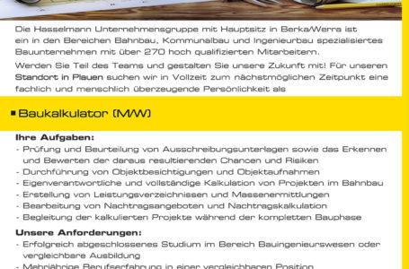 Baukalkulator m/w in Plauen gesucht