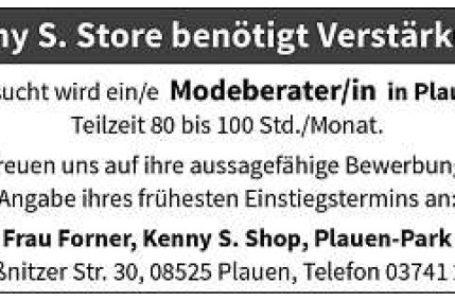 Modeberater m/w in Plauen gesucht