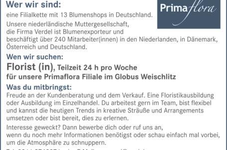 Blumenshop in Weischlitz sucht Floristen