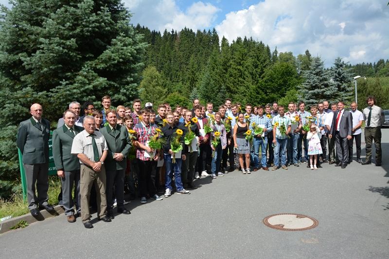 Sachsenforst-Waldexperten-Forstwirtlehrlinge