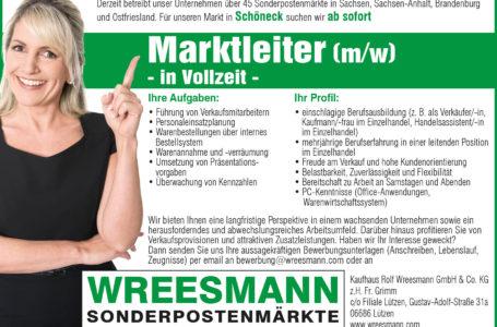 Marktleiter m/w in Schöneck gesucht