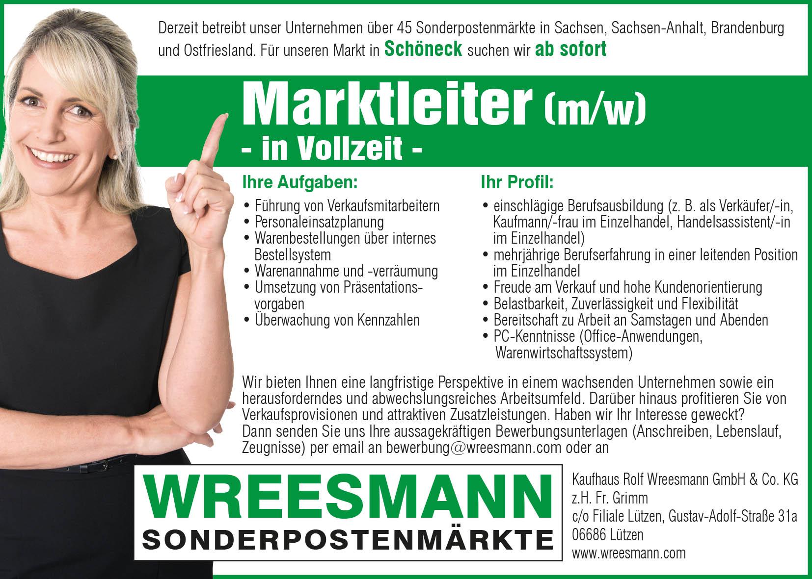 Stellenanzeige-Marktleiter-Vogtland-Schöneck