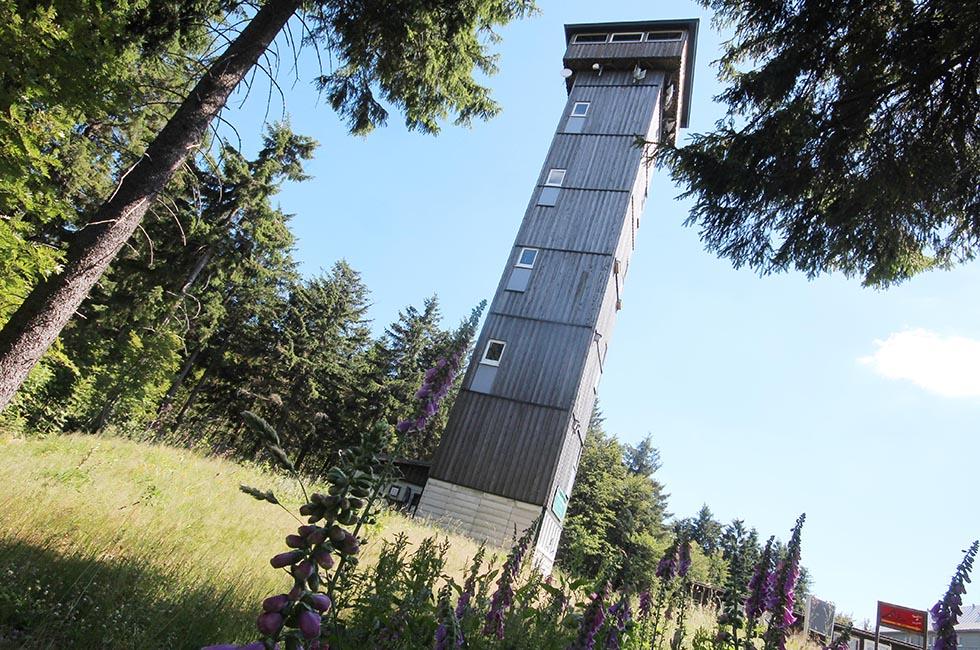 Aschberg-Turm-Klingenthal-Spitzenstadt-Vogtland-Aschbergturm-Schmiereien-Vandalen