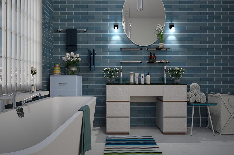 Badezimmer-Spiegel-Wasserhahn-Neugestaltung