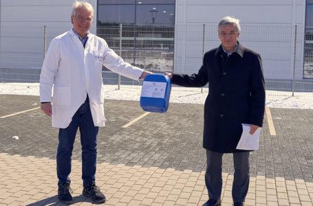 Unternehmen aus Rothenkirchen spendet Handdesinfektionsmittel