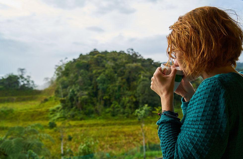 Entspannung-Kaffee-Landschaft