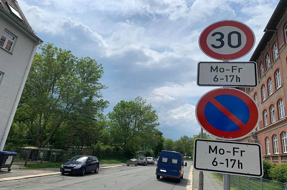 Tempo-30-Schild-Plauen-Vogtland