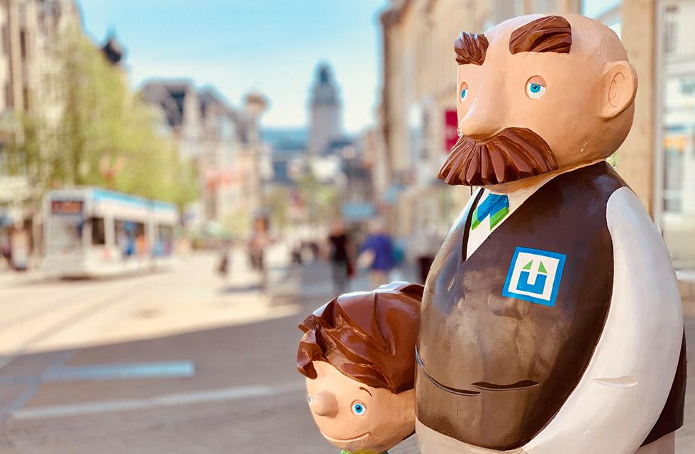 Vater&Sohn-Figuren-Plauen-Vogtland