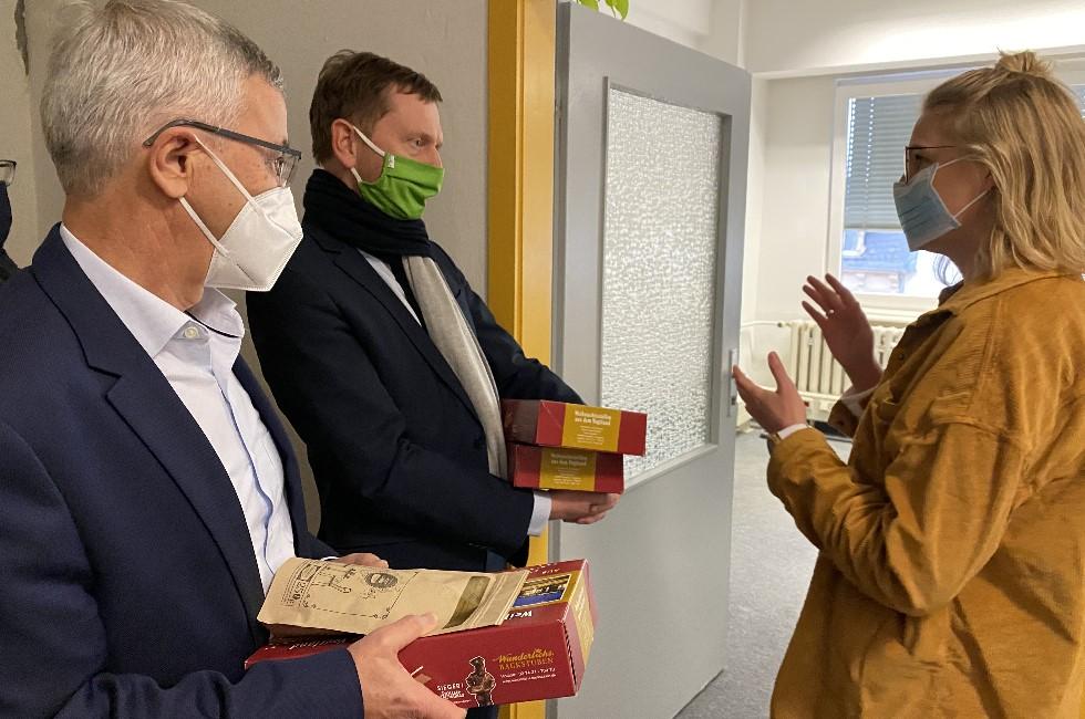 Ministerpräsident dankt im Vogtland Corona-Team