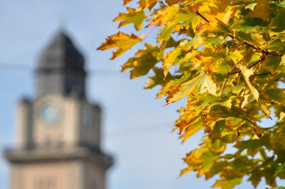Stadt Plauen im Herbst