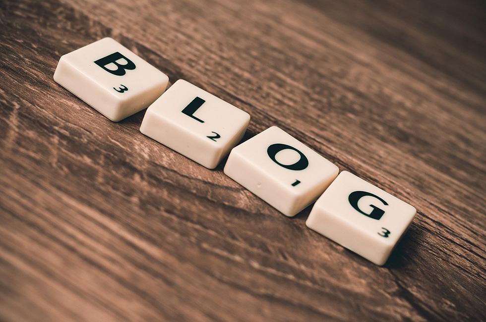 Blog-Buchstaben-Reihe