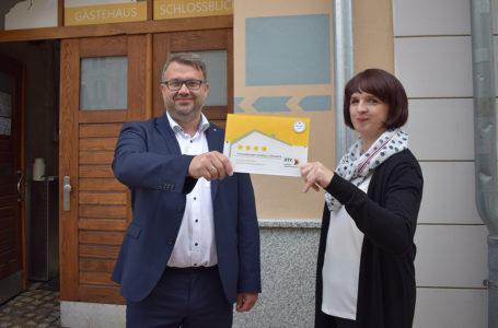 Gästehaus Schlossblick in Greiz erhält 4 Sterne