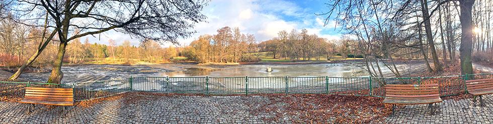 Stadtpark-Plauen-Panorama-Stadtparkteich-Vogtland