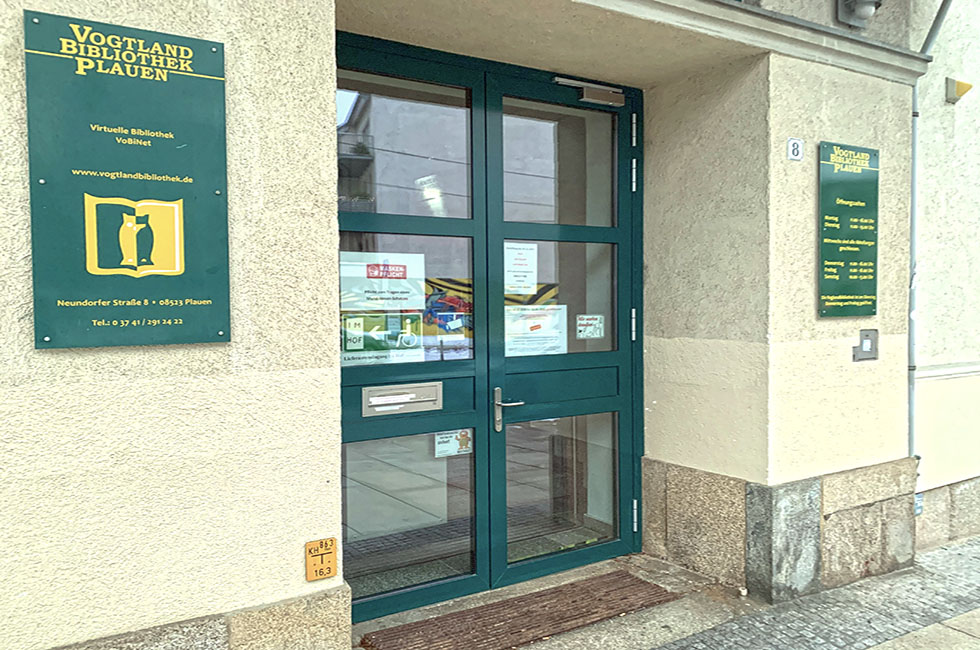 Vogtlandbibliothek-Stadtbibliothek-Plauen-Vogtland-Spitzenstadt-Bücherei
