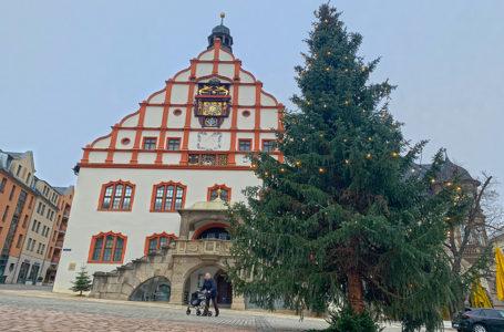 Lichter funkeln in Plauen trotz Weihnachtsmarkt-Absage