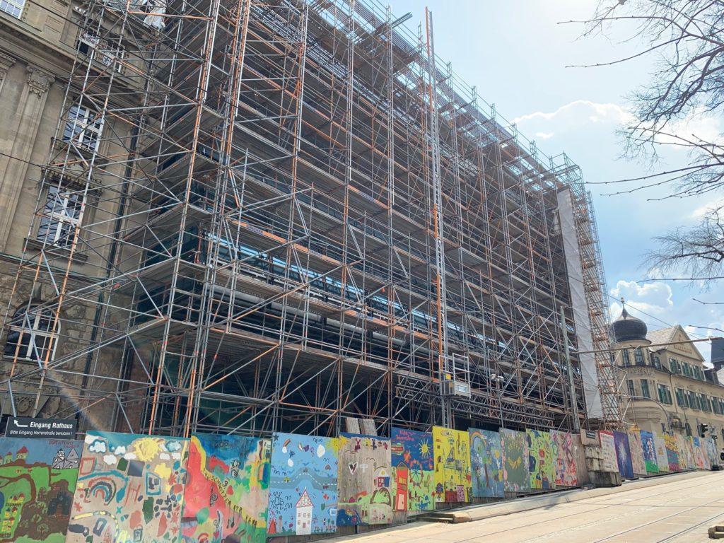 Rathausfassade-Plauen-Sanierung