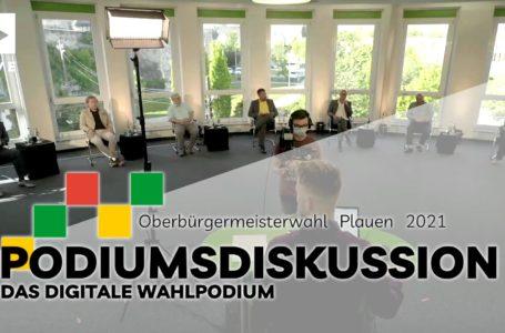 Das Online-Podium zur OB-Wahl in Plauen 2021