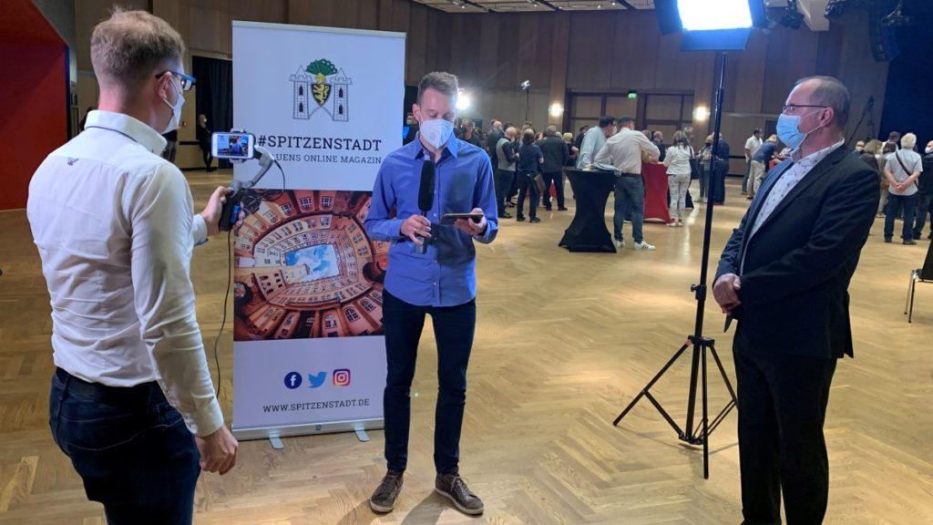 Wahlberichterstattung von Spitzenstadt.de in der Festhalle Plauen