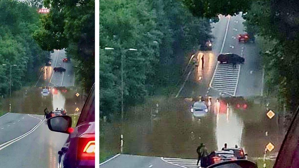 Hochwasser durch Starkregen in Plauen